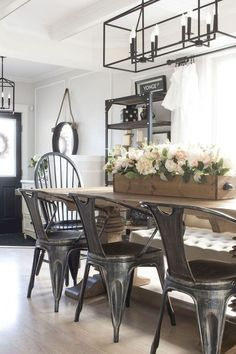 22 Stylish Modern Farmhouse Dining Room Remodel Ideas - Home Design - lmolnar - Best Design and Decoration You Need Dining Room Design, Dining Room Table, Kitchen Dining, Kitchen Decor, Nook Table, Dining Ware, Kitchen Rustic, Dining Nook, Kitchen Nook