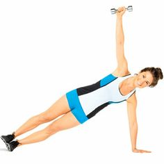 Pumped-Up Planks Video from Self Magazine.  Weights optional!