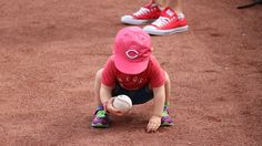 Starting that baseball passion early at Great American Ball Park. Let's go Reds! Reds Baseball, Go Red, Cincinnati Reds, American, Passion, Park, Parks