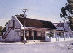 'General Store, Worcester' by John Kramer. Landscape Photos, Landscape Paintings, Amazing Photos, Cool Photos, Art Houses, South African Artists, Unique Paintings, Cool Art Drawings, Old Farm