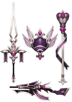 Anime Weapons, Fantasy Weapons, Sword Design, Weapon Concept Art, Learn Art, Game Item, Fantasy Costumes, Anime Outfits, Magical Girl