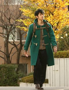 瑛太 Japanese Drama, Duffle Coat, Dressing, Handsome, Actors, Boys, Clothes, Style, Fashion