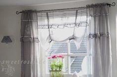 Rollo Raffrollo Roll Gardine 140x90 Anastasia grau Shabby Landhaus Vintage NEU