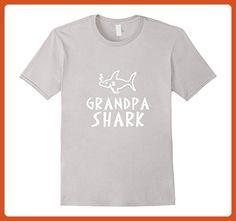 dae83b3878aa8a Mens Grandpa Shark T-Shirt Small Silver - Relatives and family shirts  (*Partner