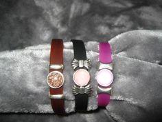 Armbänder - Kautschukarmband mit tollen Sliderperlen Farbwahl - ein Designerstück von Ringfreak bei DaWanda