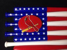 St. Louis Cardinals  Custom Baseball Bat Flag