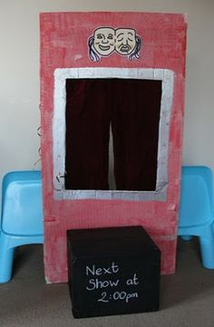 Sun Hats & Wellie Boots: When is a box not a box... when it's a Puppet Theatre!
