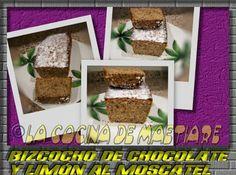 La cocina de Maetiare: Bizcocho de chocolate y limón al moscatel