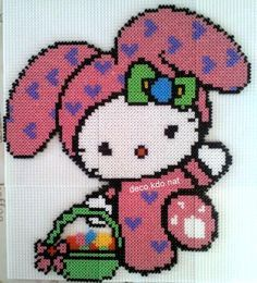 Perler Bead Hello Kitty Easter