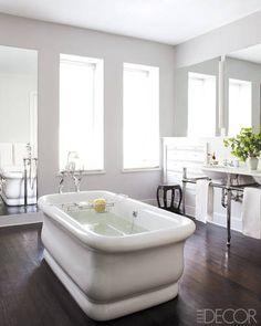 Windows, tub, floors