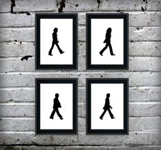 The Beatles Walking Silhouette Art Print Set...buying this for my stepmom, she'll love it!!!