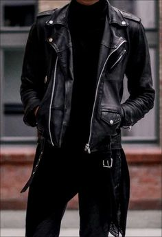 Genuine Black Leather Jacket Men – Lambskin Motorcycle Mens Leather Jackets & Coat - All About Best Leather Jackets, Leather Jacket Outfits, Men's Leather Jacket, Leather Men, Jacket Men, Lambskin Leather, Vintage Leather, Leather Coats, Black Leather