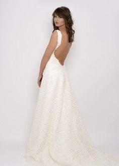 Backless Wedding Gown.