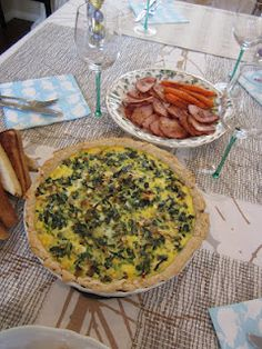 my very own spinach and mushroom quiche! A combination of an Allrecipes.com recipe and Barefoot Contessa's Spinach Pie