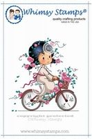 Whimsy Stempel Wee Rose's Bike Ride