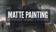 Matte painting is a technique that filmmakers use to create backgrounds for scenes that can't or don't exist in real life. In the early days, matte paintings were actually painted onto glass. Today, modern filmmakers use digital applications such as Photoshop to produce the backdrops that they need.