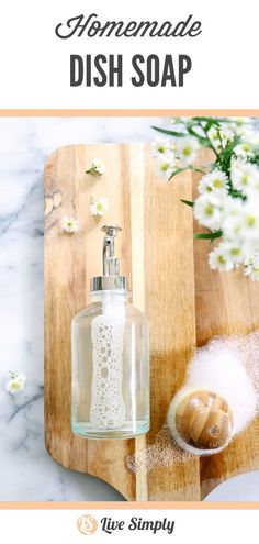 Here's where natural living and real food merge together when it comes to tackling those dishes. This homemade dish soap is a game changer. Natural Cleaning Recipes, Natural Cleaning Products, Diy Products, Homemade Products, Diy Cleaners, Cleaners Homemade, House Cleaners, Household Cleaners, Homemade Dish Soap