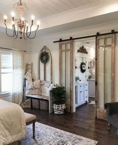 Master Bedroom Ideas Simply Farmhouse Master Bedroom Design Ideas Match For Any Room Farmhouse Master Bedroom, Master Bedroom Design, Modern Bedroom, Bedroom Designs, Contemporary Bedroom, Master Bedrooms, Quirky Bedroom, 60s Bedroom, Farmhouse Bedroom Furniture