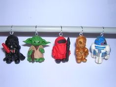 star wars charms/stitch markers less than 1 inch tall