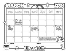 Tag @kidoodletv on Instagram with your customized calendars to get featured! Custom Calendar, Activity Sheets, Women In History, Some Fun, Fun Activities, Printables, Tv, Instagram, Personalised Calendar