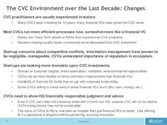 External Use  The CVC Environment over the Last Decade: Changes  CVC practitioners are usually experienced investors  •Man...