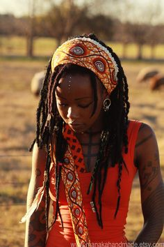 Tattoos, Dreads, and Beads= gorg Dreads, Curly Hair Styles, Natural Hair Styles, Ethno Style, Afro Punk, Beautiful Black Women, Belle Photo, Dark Skin, Hair Goals