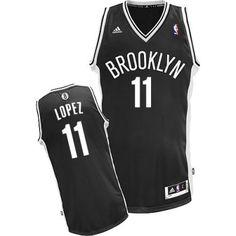 4145326cc00 Brook Lopez Swingman In Black Adidas NBA Brooklyn Nets #11 Men's Road Jersey  Nfl Jerseys