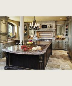 Custom Island & Cabinetry love cabinets and island design, Hate Columns!!!!!!!!!