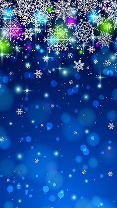 Glittering Snowflakes iPhone 5 Wallpaper.