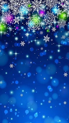 Glittering Snowflakes iPhone 5 Wallpaper.