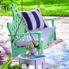 Shop outdoor rocking chairs, porch swings and gliders at Grandin Road. Make the most of your favorite outdoor space by relaxing in comfort and elegance. Pergola Swing, Pergola Kits, Pergola Ideas, Pergola Plans, Wisteria Pergola, Diy Pergola, Porch Ideas, Yard Ideas, Outdoor Spaces