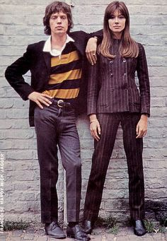 Mick Jagger and Françoise Hardy Angie! Angie! Love that song of course!