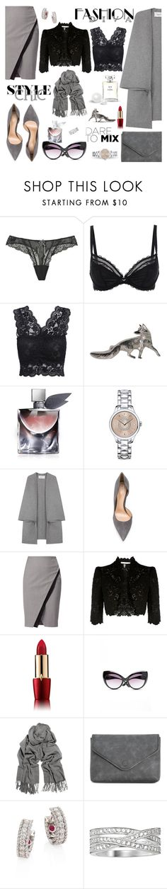 """""""▲◄✧ ✪•🌟•✪✧►▲"""" by missacreativityinstyle ❤ liked on Polyvore featuring Elle Macpherson Intimates, Chantelle, Lancôme, Christian Dior, Valentino, Gianvito Rossi, WtR London, Karen Millen, MANGO and Acne Studios"""