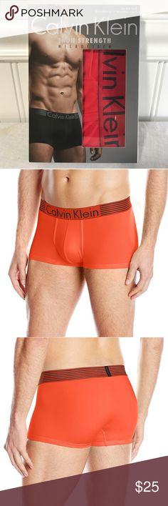 Calvin Klein Men's Iron Strength Micro Low Rise Calvin Klein Men's Iron Strength Micro Low Rise Trunk, Ryan Red, Large. B100 Calvin Klein Underwear Underwear & Socks Boxer Briefs
