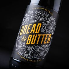 Robot Food - Vocation Brewery — World Packaging Design Society / 世界包裝設計社會 / Sociedad Mundial de Diseño de Empaques Craft Beer Brands, Brewery Design, Beer Label Design, Bottle Packaging, Coffee Packaging, Food Packaging, Product Packaging, Wine And Beer, Best Beer