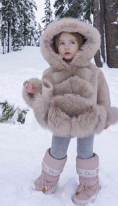 Dyosa Queen G Maya Diab, Cute Kids, Cute Babies, Fur Trimmed Cape, Kids Fashion, Winter Fashion, Very Cute Baby, Baby Winter, Wraps