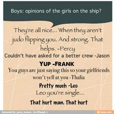 // heroes of Olympus ha funny!<<< really percy? you think he doesn't KNOW that he is single?<<