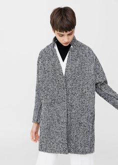 Cappotto lana spigato   MANGO