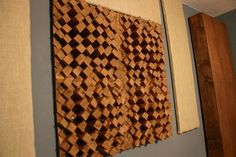 Bilderesultater for diy sound diffuser Acoustic Wall, Acoustic Panels, Wood Mosaic, Mosaic Wall, Acoustic Diffuser, Home Studio, Studio Floor Plans, Sound Room, Recording Studio Design