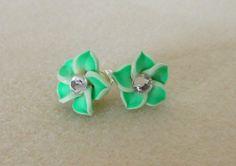 Hawaiian Flower Earrings Pierced/Plumeria by CreationsbyMaryEllen
