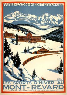 FRANCE - Mont-Revard #Winter Sports  #Vintage #Travel
