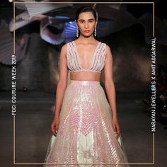 """Narayan Jewellers delightfully launched the new bridal collection in association with ace Designer Amit Aggarwal for """"Lumen"""" Couture 2019 at FDCI. Bridal Collection, Fashion Show, Product Launch, Two Piece Skirt Set, Jewels, Couture, Dresses, Design, Gowns"""