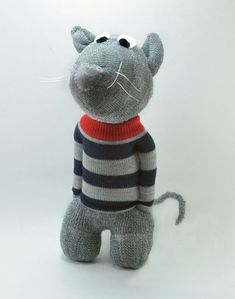 Handmade-Rat Sock Animal-Rat-rodent-ratatouille-cute by sockart