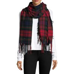 Burberry Fil Coupé Oversized Tartan Scarf ($695) ❤ liked on Polyvore featuring accessories, scarves, evening shawls, oversized scarves, plaid scarves, plaid shawl and red plaid scarves