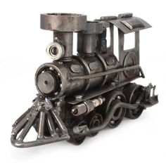 Unique Recycled Metal Rustic Train Sculpture Mexico - Rustic Locomotive | NOVICA