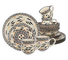 Nice Temp Tations Old World 16 Piece Dinnerware Service For 4