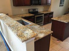 Delicatus Granite Countertops Delicatus Gold Granite Kitchen
