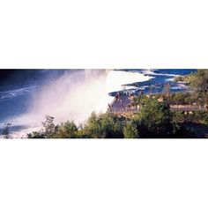 Tourists on observation tower Niagara Falls Niagara Falls State Park Niagara River Niagara County New York State USA Canvas Art - Panoramic Images (27 x 9)