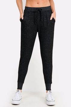 Take these sweatpants with you! The incredibly soft Drawstring Hacci Sweatpants from Mono B boast incredible comfort and great sporty style. Featuring a drawstring closure, two side pockets and contrasting waist Patterned Leggings, Blue Leggings, Gym Style, Sporty Style, Cute Things For Girls, New Bra, Jogger Sweatpants, Bra Tops, Workout Wear