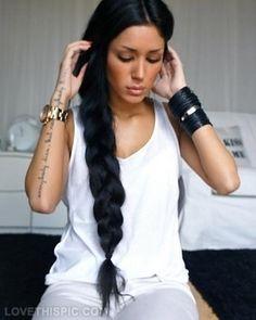 Black Braid hair black hair color braid hairstyle braids hair ideas hair cuts